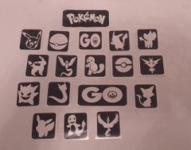 Pokémon Sjablonen Set 18 sjablonen