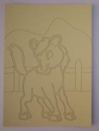 Paardje   afmeting (12,5 x 17,5 cm)