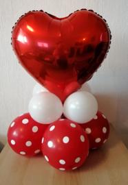 Kleine liefdes ballondecoratie