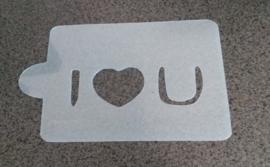 I Love You Schmink & Airbrush Sjabloon