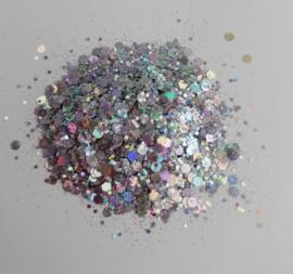 Chunky Glitters Zilver 10 ML Eigen merk
