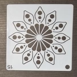 Schmink & Airbrush Sjabloon flower 15