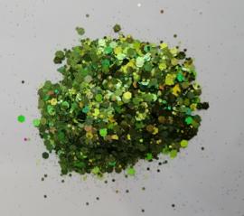 Chunky Glitters Green 10 ML Eigen merk