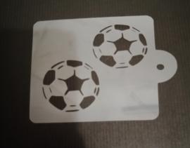 Voetbal Duo Schmink & Airbrush Sjabloon