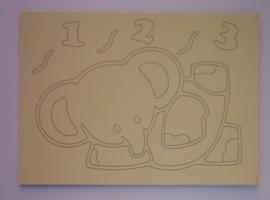 Olifantje  afmeting (12,5 x 17,5 cm)