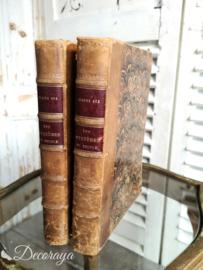 Set van oude boeken