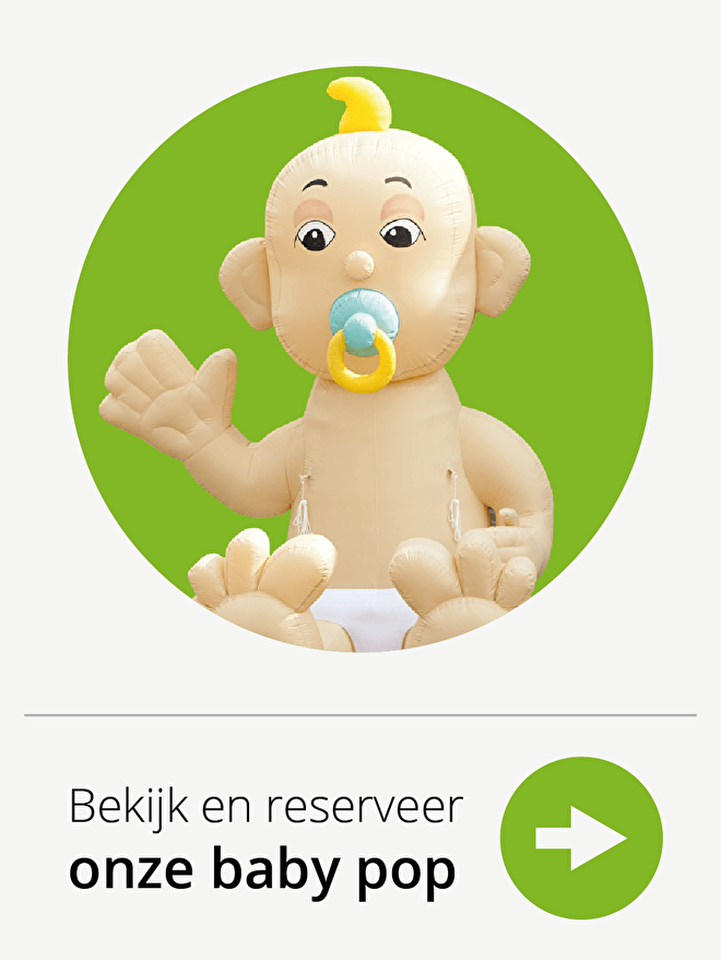Opblaas Baby poppen