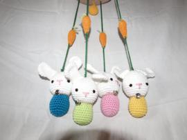 kinderkamer hanger konijntjes
