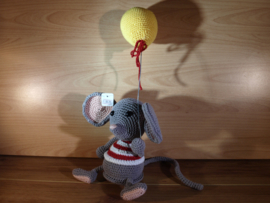 muis met ballon