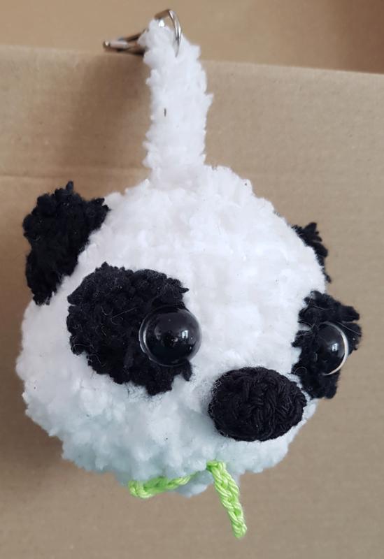 Panda als sleutelhanger