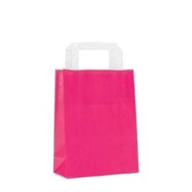 Kraft tasjes (10) - Pink