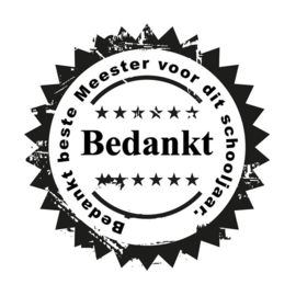 Sticker - Bedankt meester (1)