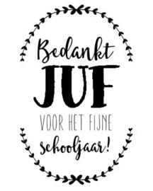 Sticker - Bedankt Juf...fijne schooljaar