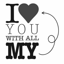 ♥ Stickers - I love you