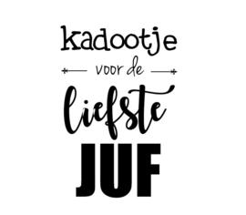 Stickers -Kadootje  Liefste Juf