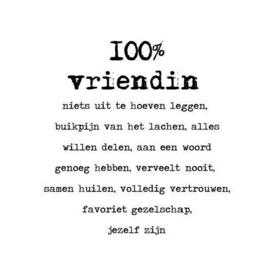Stickers - 100% vriendin
