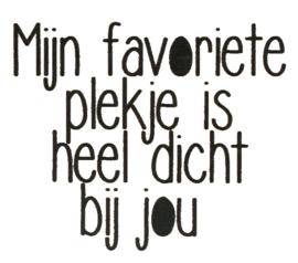 ♥ Sticker - Favoriete plekje....bij jou