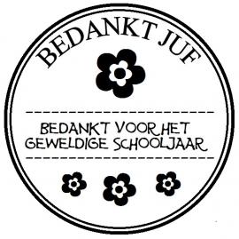 Stickers - Bedankt Juf