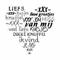 ♥ Sticker - Knuffelhart