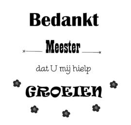 Sticker - Groeien Meester