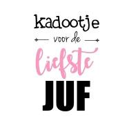 Sticker - Kadootje liefste juf roze