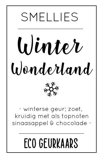 Ecogeurkaars - Winter wonderland
