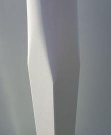 Houten vlaggenmast 6 meter conisch vierkante voet  100-65mm.