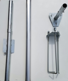 Aluminium conische vlaggenmast 7 meter  100-60mm.