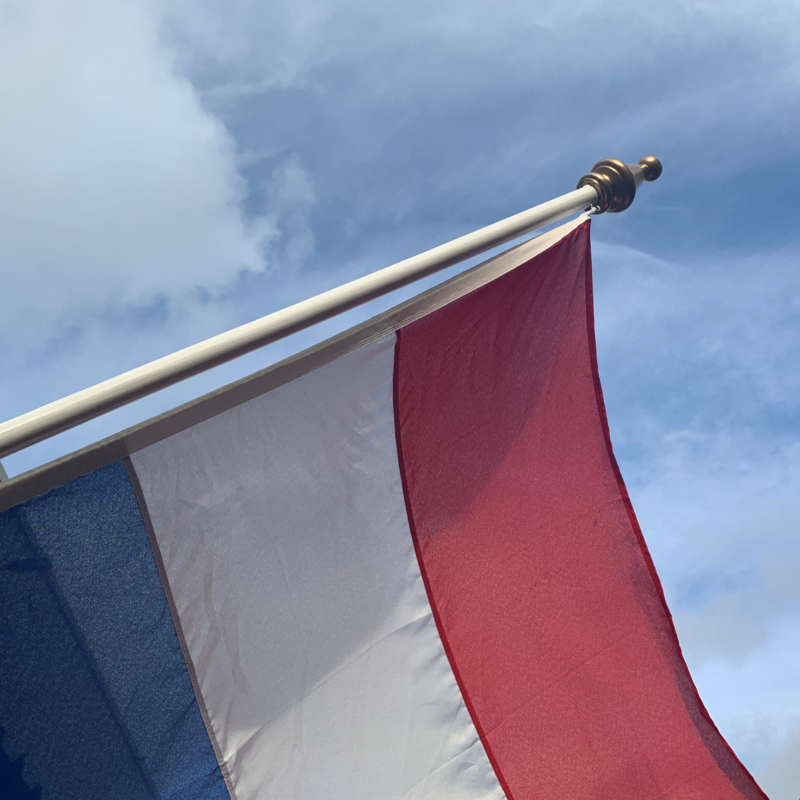Authentieke geschilderde vlaggenstok 2.0 meter 30mm.