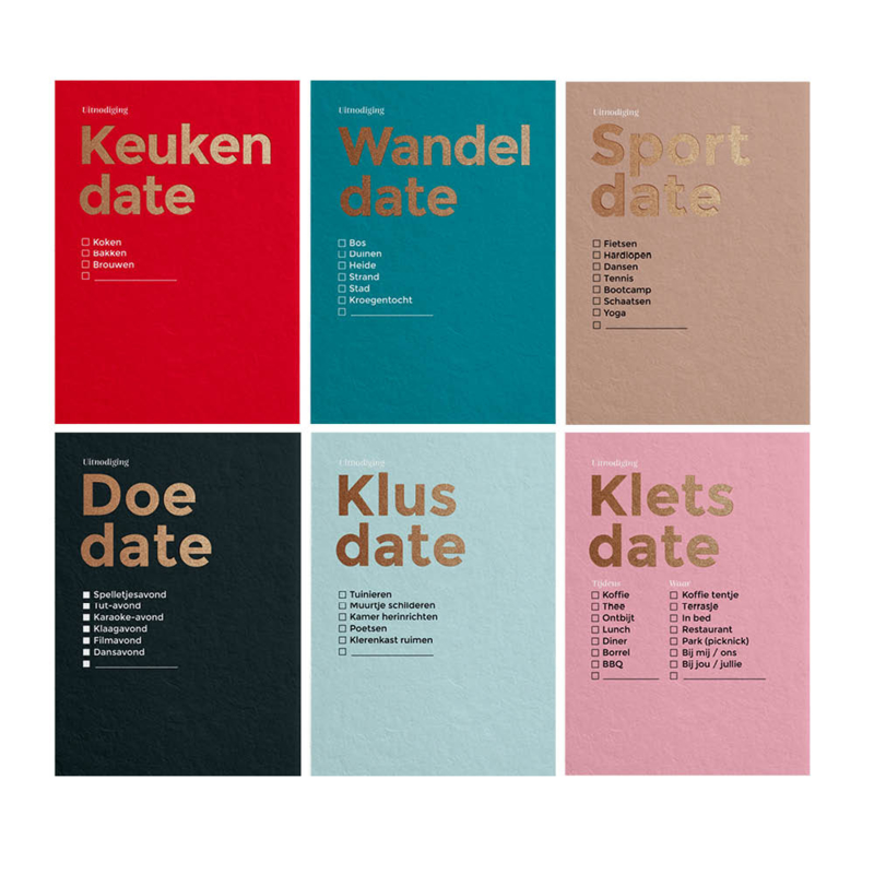 Complete set - 6 x Typografisch