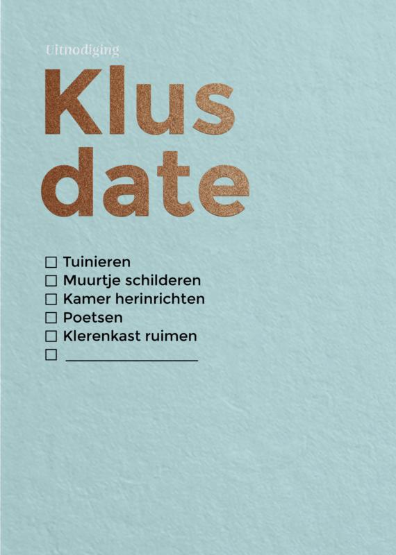 Klus date 1