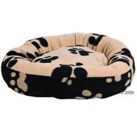 Hondenmandje beige/zwart 50 cm