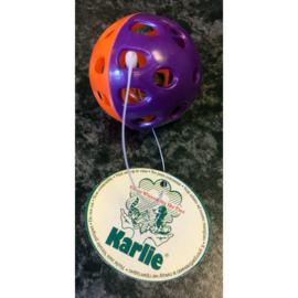 Karlie plastic speelballetje met bel