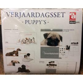 Verjaardagsset Puppy's