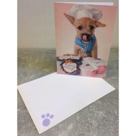 Studio Pets kaart hondje met cupcakes