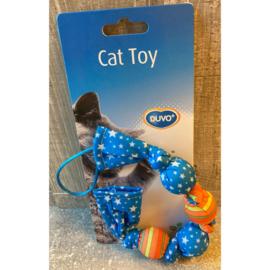 Duvo+ Cat toy slinger met catnip blauw/oranje