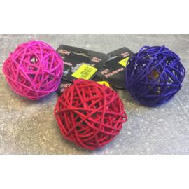 Forpet rieten speelballetje paars