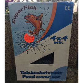 Superfish vijver afdeknet 4 x 4 mtr