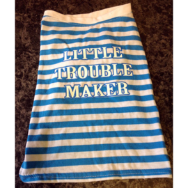 Hondenshirt little trouble maker XS