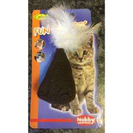 Nobby fun for cats jute zak met veertjes en catnip