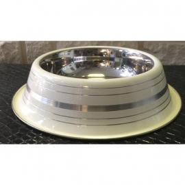 Vitakraft RVS voer/waterbak met zilveren ringen