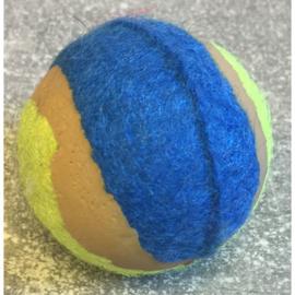 Mini tennisbal groen/blauw