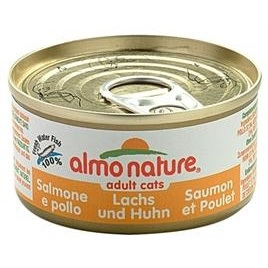 Almo Nature cat zalm/kip 70gr 24x