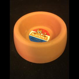Platepet stenen ronde voer/drinkbak