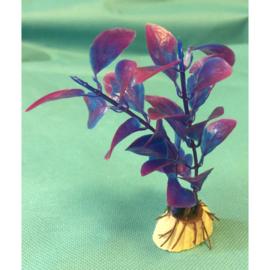 Kunststof sierplantje paars/blauw