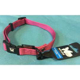 Martin Sellier nylon halsband roze 40-55 cm