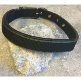 Nylon halsband gevoerd mesh zwart M