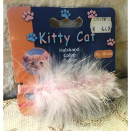 Nobby kittenhalsband kitty cat met veertjes