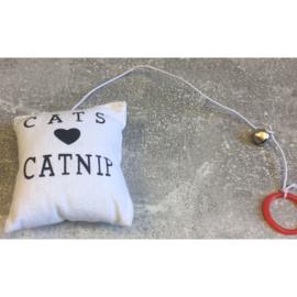 Kattenspeelgoed kussentje met catnip