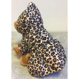 Winterjasje leopard/rood XS